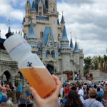 Kling Water Bottle in front of Cinderella's Castle